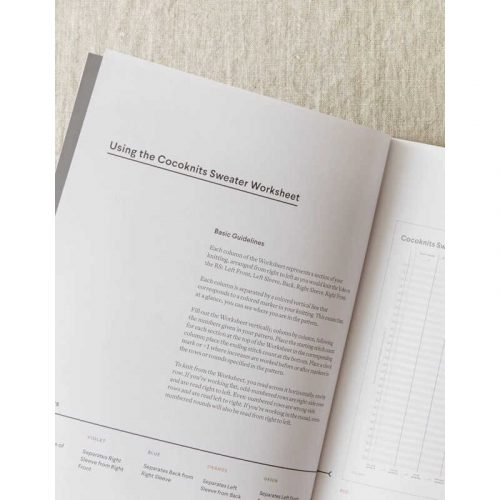 Cocoknits - Sweater Worksheet Journal